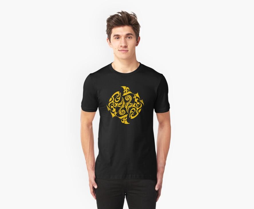 Zodiac Sign Pisces Gold by elangkarosingo