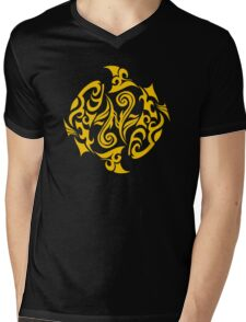 Zodiac Sign Pisces Gold Mens V-Neck T-Shirt