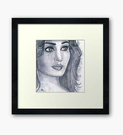 Reema Khan (Pakistani Actress) Framed Print