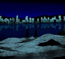 Teen Titans - Beast Boy x Terra - Skipping Rocks by nevertoolatexx