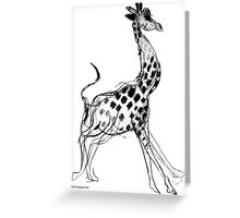 Giraffe running Greeting Card