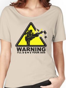 WARNING I will Ryu your ass Women's Relaxed Fit T-Shirt