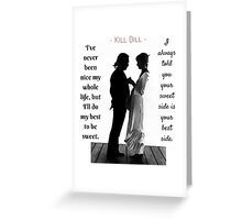 Kill Bill - Wedding Scene Greeting Card