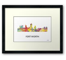 Fort Worth, Texas Skyline WB1 Framed Print