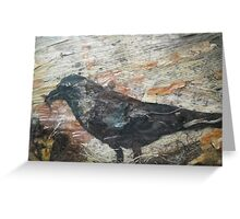 Crow with wild food Greeting Card
