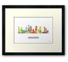 Houston, Texas Skyline WB1 Framed Print