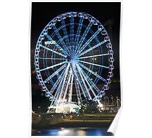 A Blue Night - Ferris Wheel Southbank Brisbane Stationary Poster