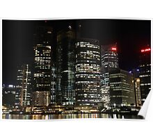 City Lights -  Brisbane's business district  Poster