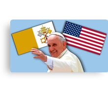 Pope with flags 1 Canvas Print