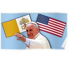 Pope with flags 1 Poster