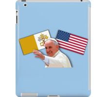 Pope with flags 1 iPad Case/Skin