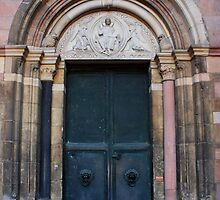 Mainz Cathedral Doorway by Indrani Ghose