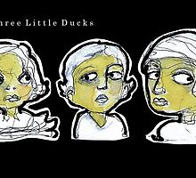Three Little Ducks  (4 x 11cm) by limerick