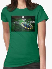 The Illuminati Crop Circle Womens Fitted T-Shirt