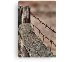 Barriers - ravaged by time... Canvas Print
