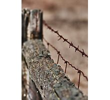 Barriers - ravaged by time... Photographic Print