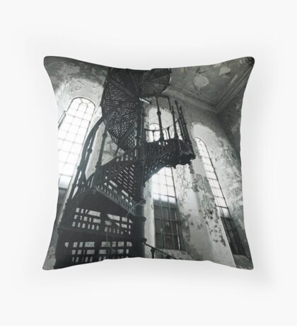 Helical Stairs Throw Pillow
