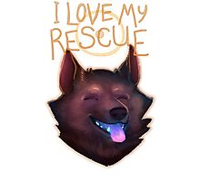 I Love My Rescue Photographic Print