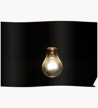 a light [bulb] in the dark [room] Poster