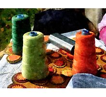 Large Spools of Thread Photographic Print