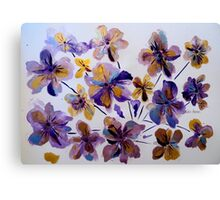 purple_and_gold_flora_by_geaausten-dk Canvas Print