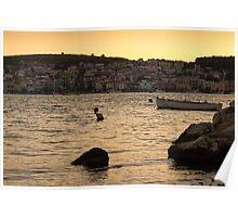 Sunset in Argostoli Poster