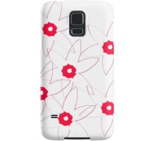 Red and White Samsung Galaxy Case/Skin