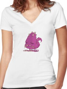 Monster-vector Women's Fitted V-Neck T-Shirt