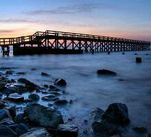 Fishing Pier Sunrise by Michael Mill