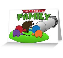 TMNT Love Makes a Family Greeting Card