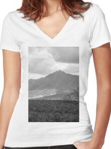 Island Mountain Women's Fitted V-Neck T-Shirt