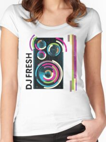 DJ Fresh Women's Fitted Scoop T-Shirt