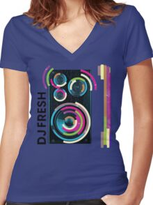 DJ Fresh Women's Fitted V-Neck T-Shirt