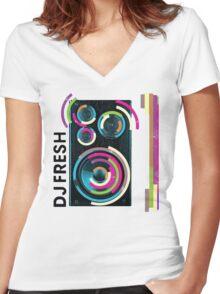 DJ Fresh Women's Fitted V-Neck T-Shirt