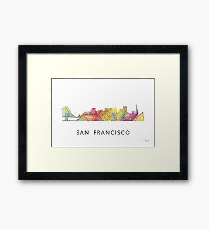 San Francisco, California Skyline WB1 Framed Print