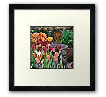 Tuliptastic Framed Print