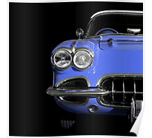 Classic Car (blue) Poster