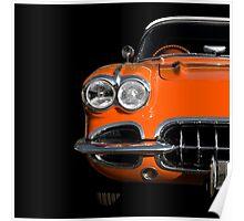 Classic Car (orange) Poster