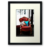 Chair of Envy Framed Print