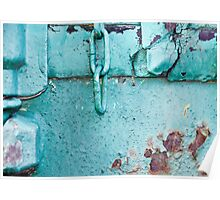 Metallic Turquoise Poster