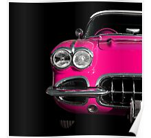 Classic Car (pink) Poster