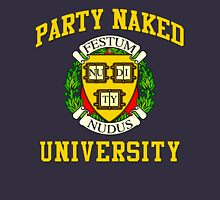 PARTY NAKED UNIVERSITY LOGO#2 Womens Fitted T-Shirt