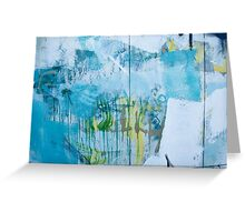 Graffiti Blue No.1 Greeting Card