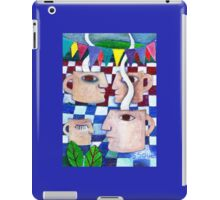 Coffee Big Heads on a Community Picnic  iPad Case/Skin