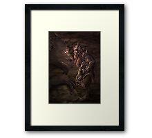 Stare Down by Rob Carlos Framed Print