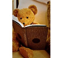 Clever Teddy Photographic Print