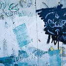 Graffiti Blue No.2 by Orla Cahill Photography