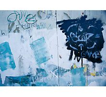 Graffiti Blue No.2 Photographic Print