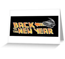 Back to the New Year (Back to the Future) Color Greeting Card