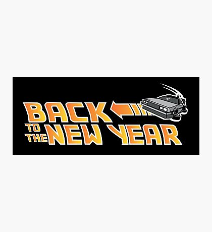 Back to the New Year (Back to the Future) Color Photographic Print